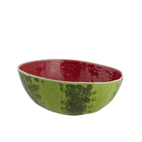 "Watermelon Serving Bowl, 11"" by Bordallo Pinheiro"