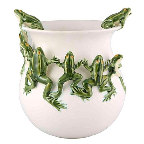 "Censurado Frogs Dance Pot, 11"" by Bordallo Pinheiro"