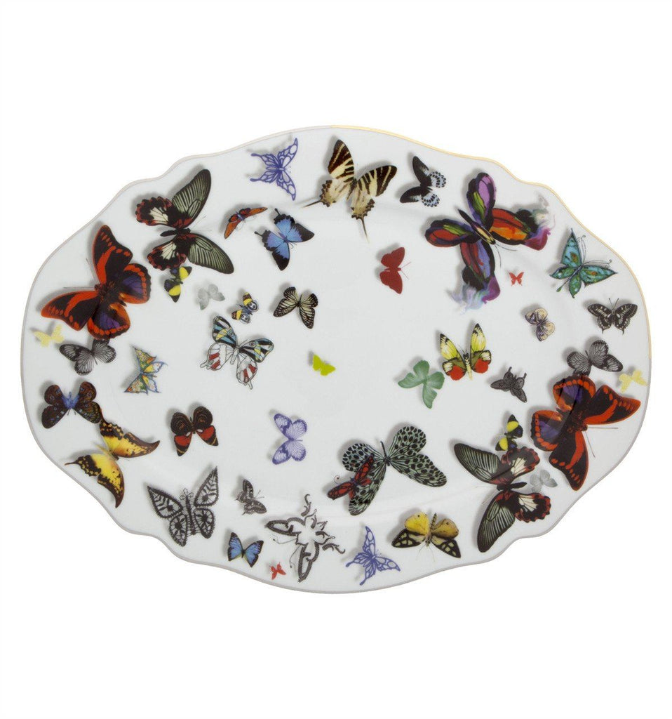 Butterfly Parade Oval Platter by Christian Lacroix for Vista Alegre