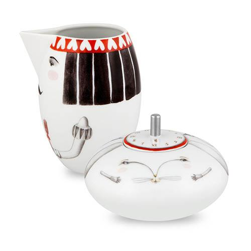 Tea with Alice Sugar Bowl & Milk Jug Set by Teresa Lima for Vista Alegre