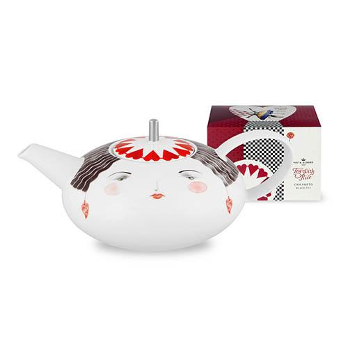 Tea with Alice Teapot & Tea Bag by Teresa Lima for Vista Alegre