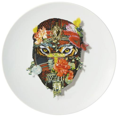 Love Who You Want Mister Tiger Dessert Plate by Christian Lacroix for Vista Alegre