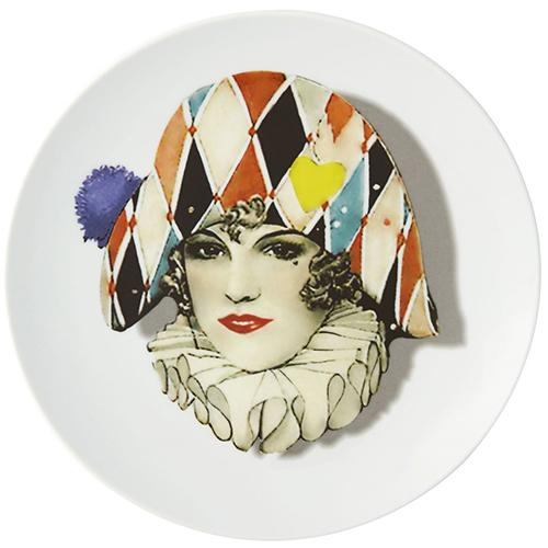Love Who You Want Miss Harlequin Dessert Plate by Christian Lacroix for Vista Alegre