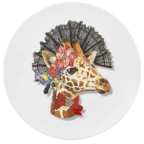 Love Who You Want Dona Jirafa Dessert Plate by Christian Lacroix for Vista Alegre