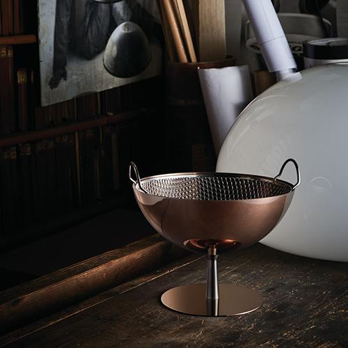 AC04 Copper Colander & Fruit Bowl by Achille Castiglioni for Alessi