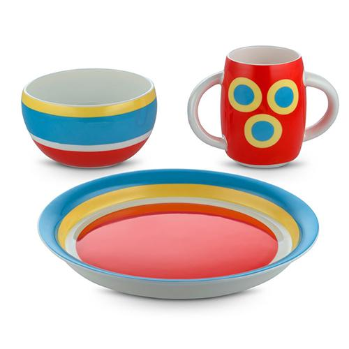 Alessini Con-centrici 3-Piece Child's Dinnerware Set by Alessi