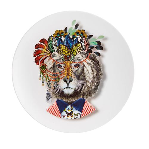 Love Who You Want Jungle King Dessert Plate by Christian Lacroix for Vista Alegre