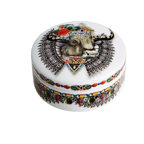 Love Who You Want Monseigneur Bull Round Box by Christian Lacroix for Vista Alegre