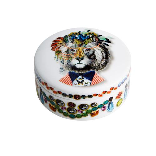 Love Who You Want Jungle King Round Box by Christian Lacroix for Vista Alegre