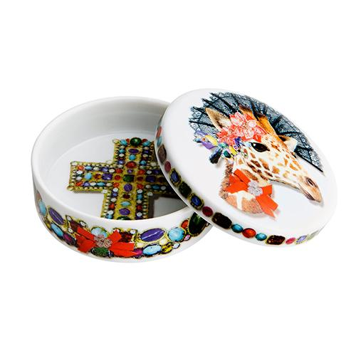 Love Who You Want Dona Jirafa Round Box by Christian Lacroix for Vista Alegre