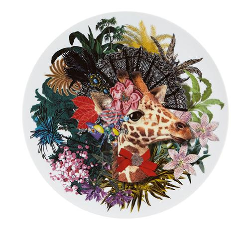 Love Who You Want Dona Jirafa Charger Plate by Christian Lacroix for Vista Alegre