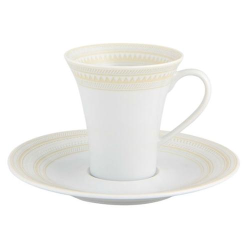 Ivory Coffee Cup and Saucer by Vista Alegre