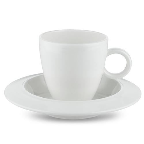 Bavero Coffee Cup & Saucer, Set of 2 by Achille Castiglioni for Alessi
