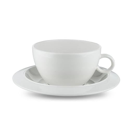 Bavero Tea Cup & Saucer, Set of 2 by Achille Castiglioni for Alessi