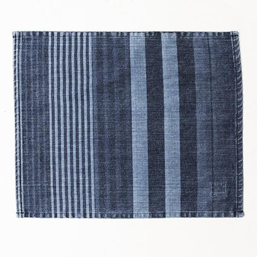 Denim Regimental Stripe Rectangular Placemat by Mi Cocina