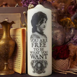 You Are Free: Courage Candle by Coreterno