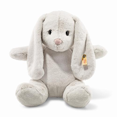 "Hoppie Rabbit, Light Grey, 15"" by Steiff"