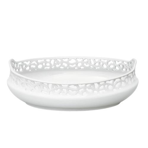 Oval Pierced Bowl by Adelbert Niemeyer for Nymphenburg Porcelain
