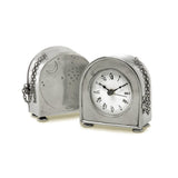 Table Clock by Match Pewter