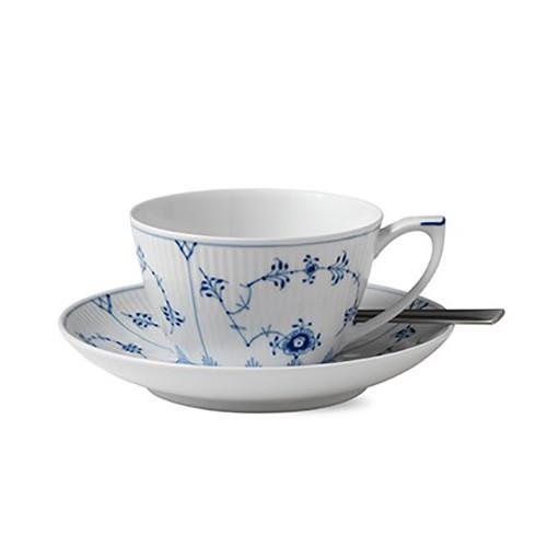 Blue Fluted Plain Tea Cup & Saucer by Royal Copenhagen