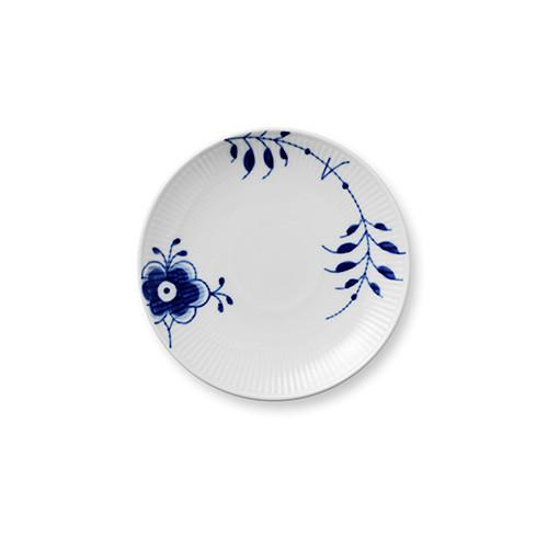 Blue Fluted Mega Bread & Butter Coupe Plate by Royal Copenhagen