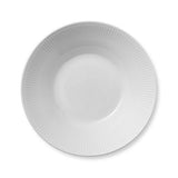 White Fluted Pasta Bowl by Royal Copenhagen