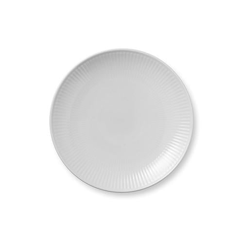 "White Fluted Coupe Bread & Butter or Dessert Plate, 7.5"" by Royal Copenhagen"