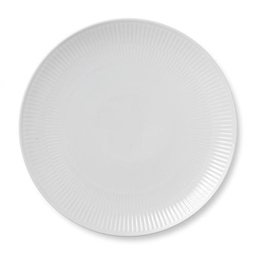 White Fluted Coupe Dinner Plate by Royal Copenhagen