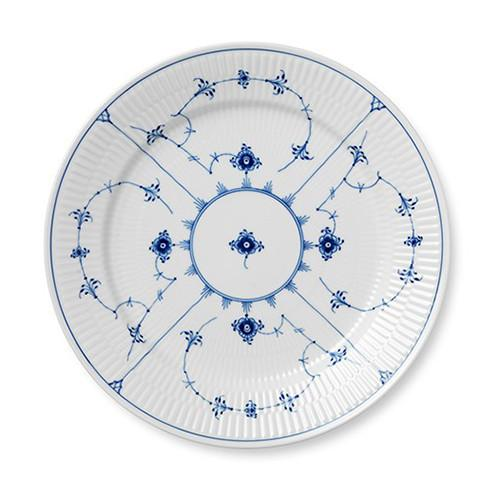 Blue Fluted Plain Dinner Plate by Royal Copenhagen