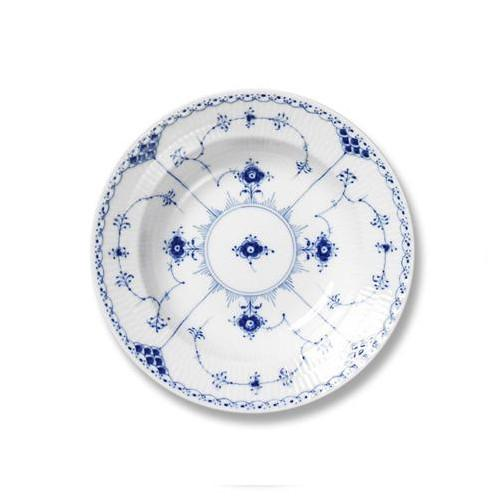 Blue Fluted Half Lace Rim Soup Plate or Bowl by Royal Copenhagen