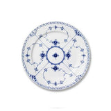 Blue Fluted Half Lace Salad Plate by Royal Copenhagen