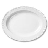 White Fluted Half Lace Serving Platter, Oval by Royal Copenhagen