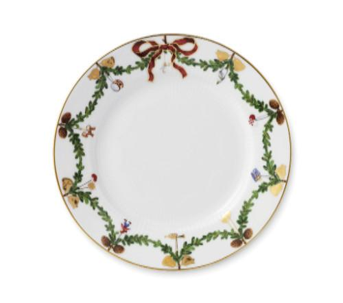 "Star Fluted Christmas Dessert/B&B Plate, 7.5"" by Royal Copenhagen"