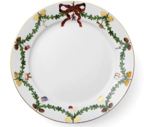 "Star Fluted Christmas Dinner Plate, 10.75"" by Royal Copenhagen"