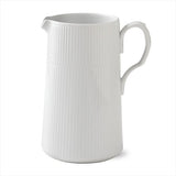 White Fluted Modern Jug or Pitcher by Royal Copenhagen