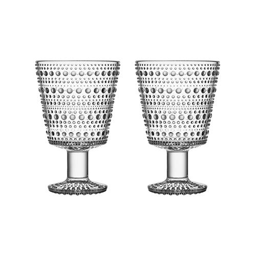 Kastehelmi Universal Stemmed Glass 8.75 oz., set of 2 by Oiva Toikka for Iittala