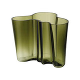 "Savoy Vase, 6.25"" by Alvar Aalto for Iittala MOss Green"