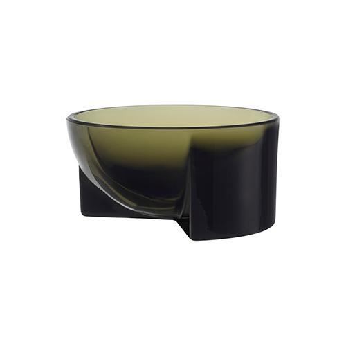 "Kuru 5"" Glass Bowl by Philippe Malouin for Iittala Green"
