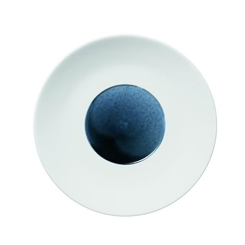 "Blue Silent Coupe Plate, 8.1"" by Hering Berlin"