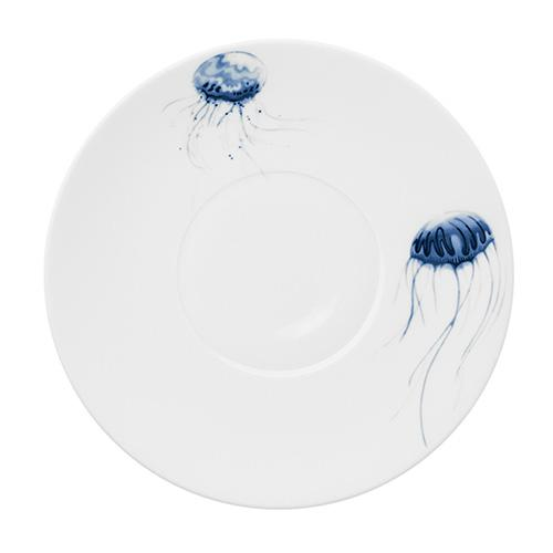 "Ocean Large Coupe Plate, Jellyfish, 12.2"" by Hering Berlin"