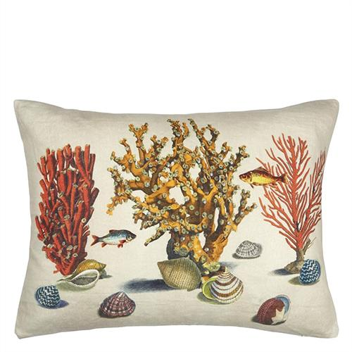 "Sea Life Coral 24"" x 18"" Rectangular Pillow by John Derian"