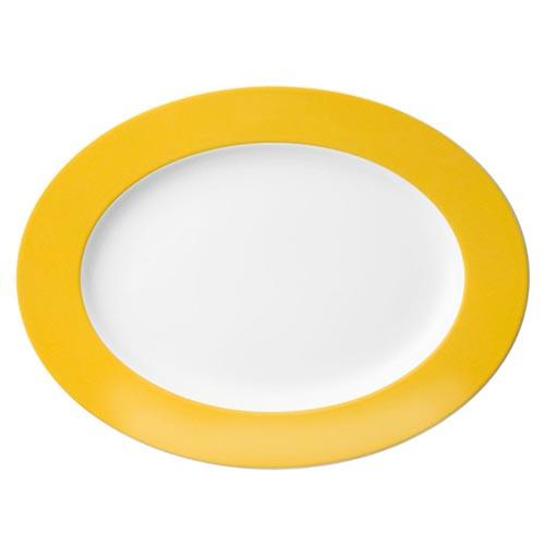 Sunny Day Oval Platter, Sunflower Yellow by Thomas