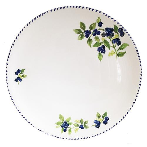 "Blueberry Round Tray/Charger/Cake Plate, 12.5"" by Abbiamo Tutto"