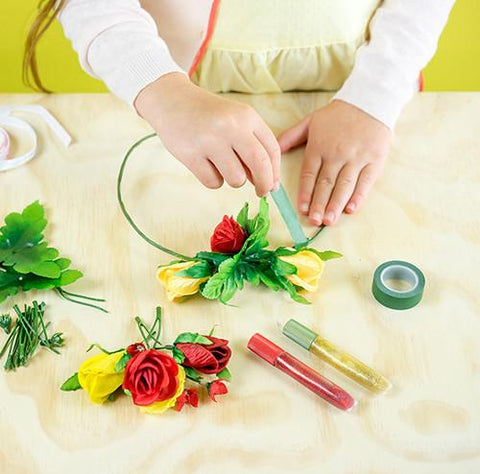 Beauty and the Beast: Design Your Own Enchanted Flower Rose Crown by Disney & Seedling