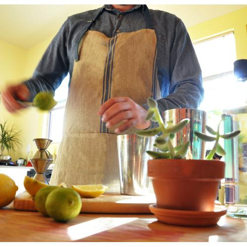 French Linen Chef's Apron by Thieffry Freres & Cie