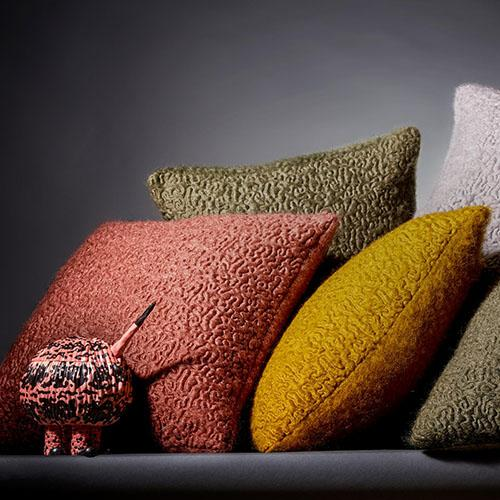 Haas Vermiculation Pillows by L'Objet