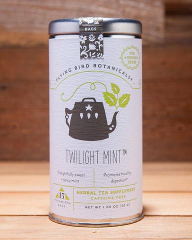 Twilight Mint Tea, Tin of 15 Sachets by Flying Bird Botanicals