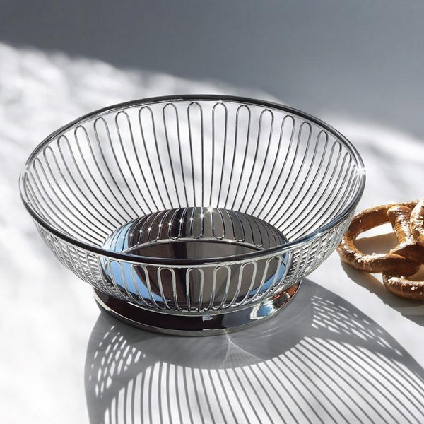 826 Series Round Bread Basket and Fruit Bowl by Alessi