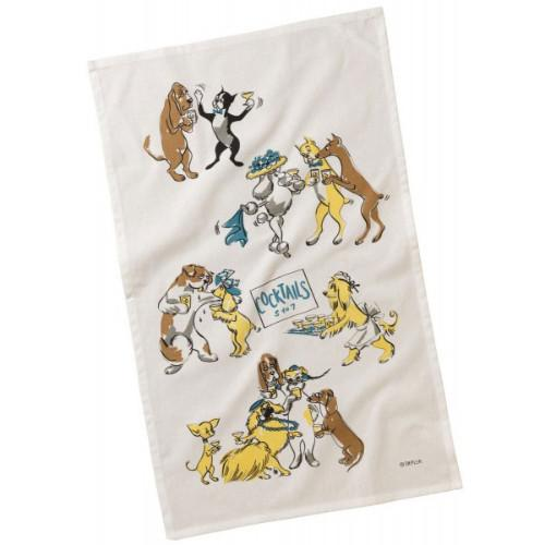 Bar Hounds Cocktails 5 to 7 Towel by Depler