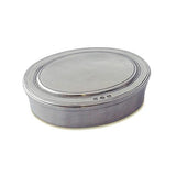 Oval Dresser Box by Match Pewter